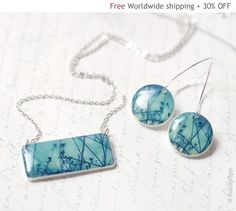 Branches jewelry set - Earrings and Necklace (S008)