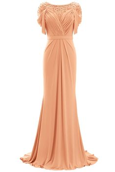 MACloth Women Mother of the Bride Dress Short Sleeves Jersey Formal Ev Blush Evening Gown, Evening Gowns, Short Sleeve Dresses, Dresses With Sleeves, Short Sleeves, Mother Of The Bride Dresses Long, Blush Pink Dresses, Prom Dresses, Formal Dresses