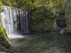 Waterfall Near Cedarville, Ohio. Peterson Park