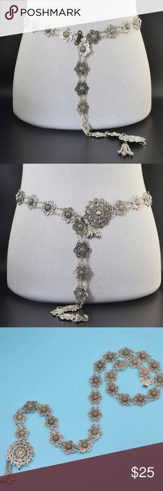 Vintage Boho Metal Flower Belt Z011 Vintage Boho Metal Flower Belt  Z011 Vintage Boho Beach Gypsy Body Chain Jewelry Ideal Accessories Belts