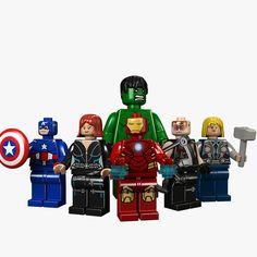 3d avengers legos