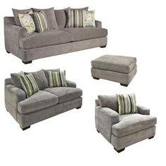 Sofa, Loveseat, Chair And Ottoman In Heather Seal | Nebraska Furniture Mart