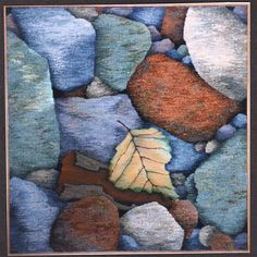 "Barbara Heller ""Stonewalls and Stones: Stones #14: Autumn"" (1997) 36"" x 36"""