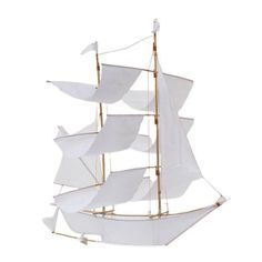 Sailing Ship Kite - White