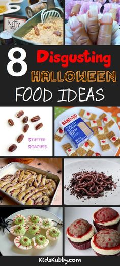 157414949448961178 Really gross Halloween food ideas!! Im not sure if I could stomach the kitty litter.