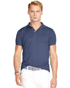 e89ce5a00c9 Slim-Fit Stretch Mesh Polo - Polo Ralph Lauren Slim Fit - RalphLauren.com