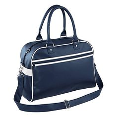 BagBase Original Retro Bowling Bag - French Navy/ White -- You can get more details by clicking on the image. #GymBags