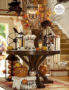 Halloween decorating inspiration from Pottery Barn.