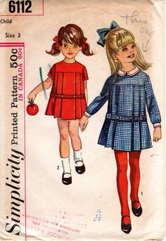 1960s Girls' Pleated Dress Pattern  Vintage by ErikawithaK on Etsy