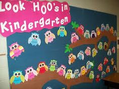 kindergarten bulletin board... easy to adapt for any grade level