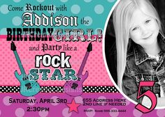 Get Rockstar Birthday Invitations Ideas  Download this invitation for FREE at http://www.bagvania.com/rockstar-birthday-invitations.html