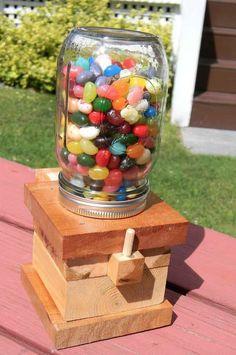 DIY Mason Jar Candy Dispenser - DIY Gift World