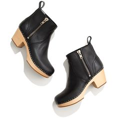Swedish Hasbeens® 877 Zip It Emy Boots — Can't decide if I love them or hate them. What a clognundrum.