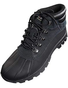148ff732ab2 KINGSHOW Mens Warm Waterproof Winter Leather Mid Height Snow Boot Review  Mens Snow Boots, Winter
