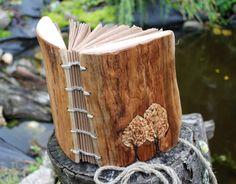 Wedding guest book wood rustic
