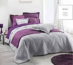 Nowoczesna pikowana szara narzuta na łóżko
