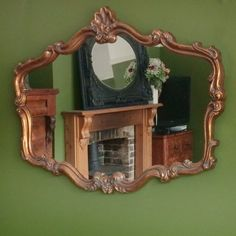 The intricate Rose mirror has an aged dark bronze coloured, antique style frame Bronze, Grace, Mirror, Antiques, Living Rooms, Furniture, Color, Style, Home Decor