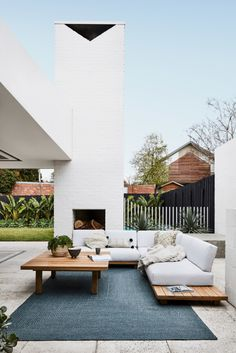 31 Fabulous Outdoor Fireplace Design Ideas Best For Your Backyard - There is nothing better than sitting in front of an outdoor fireplace and enjoying the warmth and glow that radiates from the hearth on a cool autumn . Outdoor Rooms, Outdoor Furniture Sets, Outdoor Decor, Furniture Ideas, Antique Furniture, Outdoor Patios, Furniture Layout, Designer Outdoor Furniture, Outdoor Seating