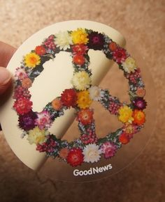 BIG size Peace Wreath Sticker ☆ – GoodNews