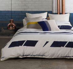 The Home has landed at Catch! Online homewares at Australia's favourite place to shop - discover modern furniture and beautiful bedding for less. Screamin' good deals on The Home modern furniture and more! Navy Quilt, Striped Quilt, Quilt Cover Sets, Modern Furniture, Comforters, Throw Pillows, Quilts, Blanket, Interior Design