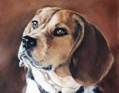 Pet Portrait Dog Portrait Animal Art Custom Paintings by cmqstudio, $115.00