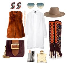 """""""#Fall #Sassy #Shopping #NewYork #LA #Hollywood"""" by treasures-ive-found on Polyvore featuring McQ by Alexander McQueen, Fendi, Brian Atwood, Zimmermann, Oliver Peoples, Burberry, Elizabeth Cole and Hermès"""