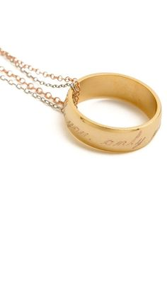 """Only You"" ring / pendant necklace"