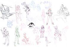 Sketches 2011 by ~joslin on deviantART