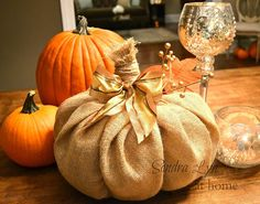How to Make a Burlap Pumpkin