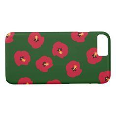Summer Red Hibiscus pattern iPhone 7 Plus Case