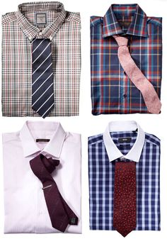 Shirt and Tie Wardrobe for Fall from Esquire (10 Shirts x 30 Ties)