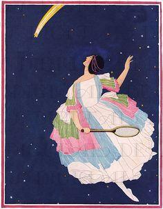 #Tennis #Stars ! -  #Vogue  #Art #Deco #Flapper #Vintage #Illustration  Posted on etsy.com