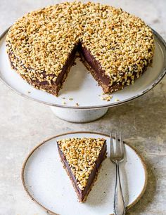 Rich hazelnut chocolate torte. A chocolate torte is different to a chocolate cake and cheesecake, it's a dense, creamy and fudgy flourless chocolate cake.