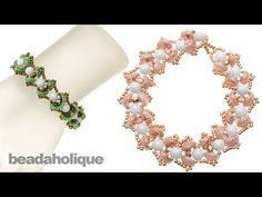 ▶ How to Make the Water Lily Bead Woven Bracelet - YouTube