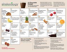 shakeology recipe calendar: chocolate two