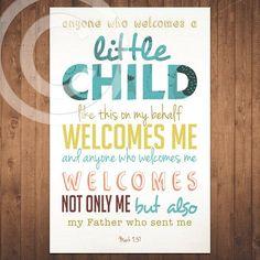 Mark - Bible Verse - Scripture - Baby Children Nursery - Quote ...