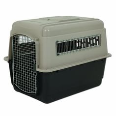 Petmate Ultra Vari Kennel is a secure and comfortable travel kennel that keeps your pet safe. The ventilation openings give pets fresh air and in Portable Dog Crate, Pet Fresh, Cat Kennel, Dog Kennels, Airline Pet Carrier, Cat Cages, Dog Travel, Airline Travel, Cat Carrier