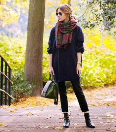 Plaid scarves are having a moment.