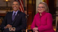 As Hillary Clinton's current political role as US secretary of state draws to a close, she and the President have given their first ever joint interview - a 60 minutes love-in complete with public praise for one another, compliments laid on thick, and a hint at a Clinton 2016 campaign.