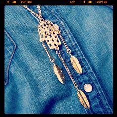 Dana Levy hamsa hand dream catcher necklace