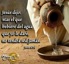 Jesus dijo... Christian Verses, Christian Encouragement, Catholic Religion, Healing Words, Good Notes, Love Me Quotes, Inspirational Message, Jesus Quotes, Amazing Grace