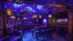 Learn all about Disney World's newest and coolest bar - Trader Sam's Grog Grotto!  #WDW #WaltDisneyWorld #ThemeParkBound