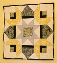 Great block (colors) for all those College of Wooster fans out there. Plus it also sports a ginkgo leaf fabric.