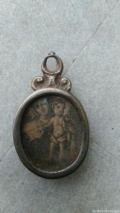 Antiguo relicario de plata - Foto 1