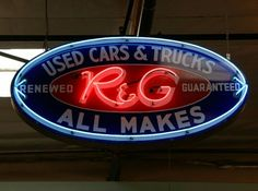 Original Used Cars Neon Sign