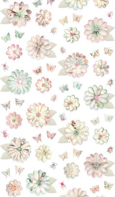 Studio Ditte – Meisjes behang Flowers