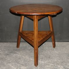 19th C Welsh pine cricket table. 1820