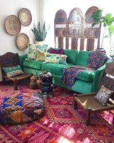 Likes, 94 Comments - Jo @ La Boheme ( .- Likes, 94 Comments – Jo @ La Boheme ( zum I … Bohemian House, Bohemian Interior, Bohemian Decor, Hippie Chic Decor, Boho Chic, Boho Living Room, Living Room Decor, Bedroom Decor, Living Area
