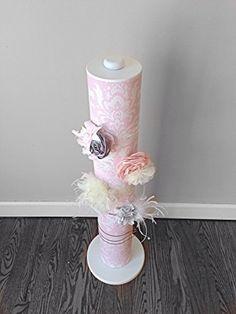 Headband Holder - Floor Stand, Pink and White Damask Headband Holders, White Damask, Candle Holders, Candles, Flooring, Amazon, Pink, Amazons, Riding Habit