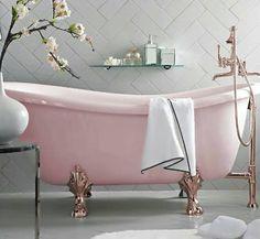 Beautiful pink footed tub